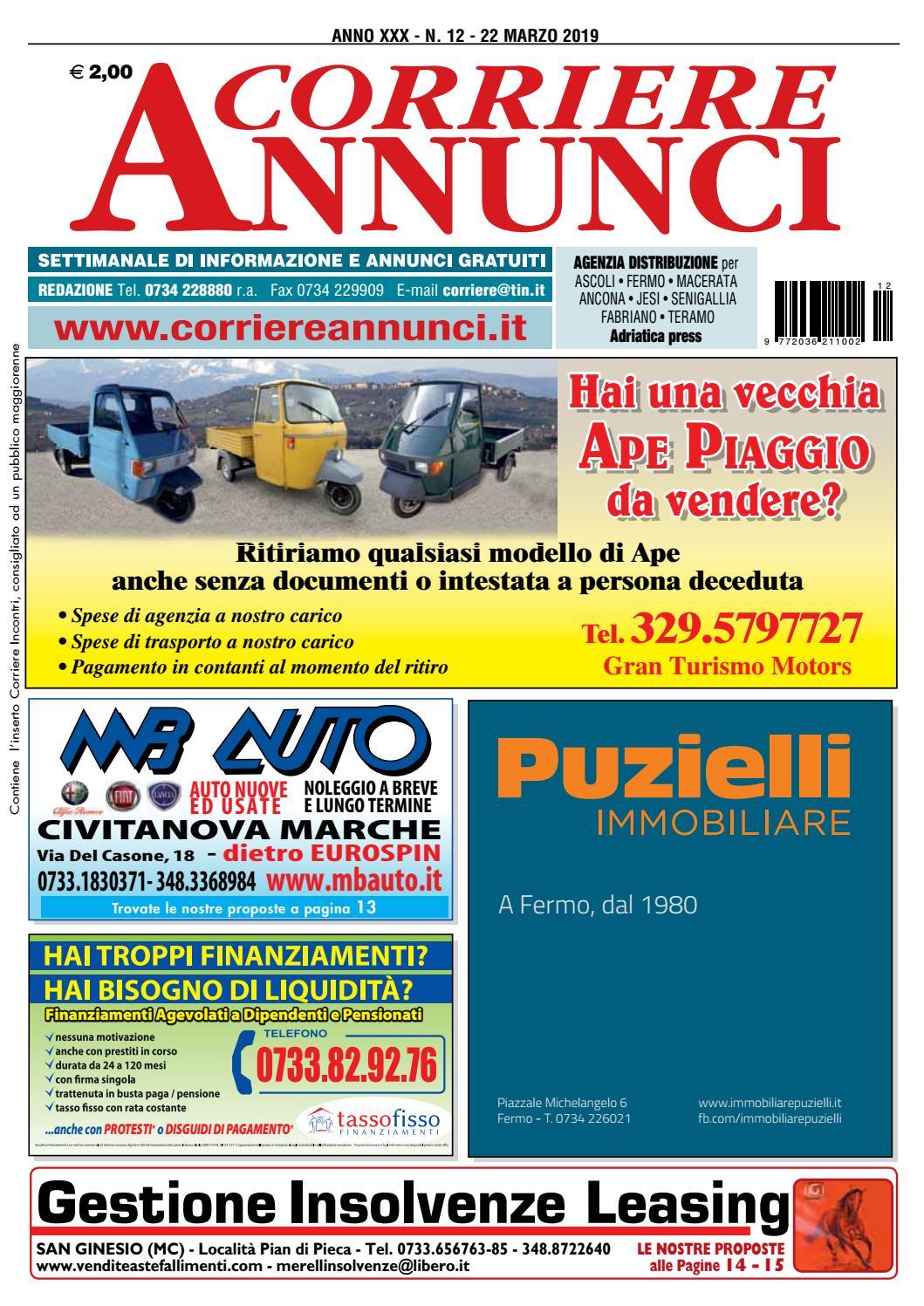 ottima qualità le più votate più recenti marchi riconosciuti Corriere 12-2019 by Corriere Annunci - issuu