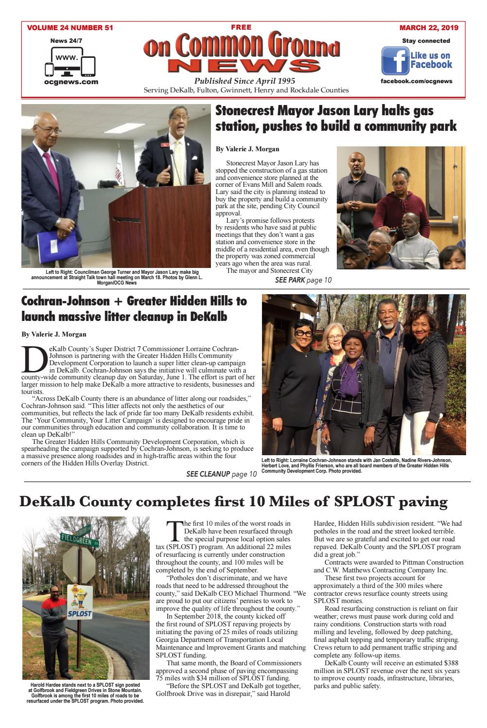OCGN March 22, 2019 by On Common Ground News - issuu