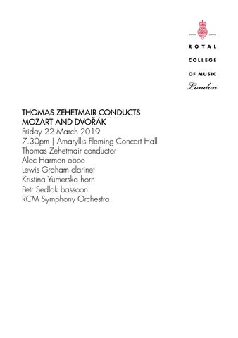 RCM Symphony Orchestra & Thomas Zehetmair by Royal College of Music