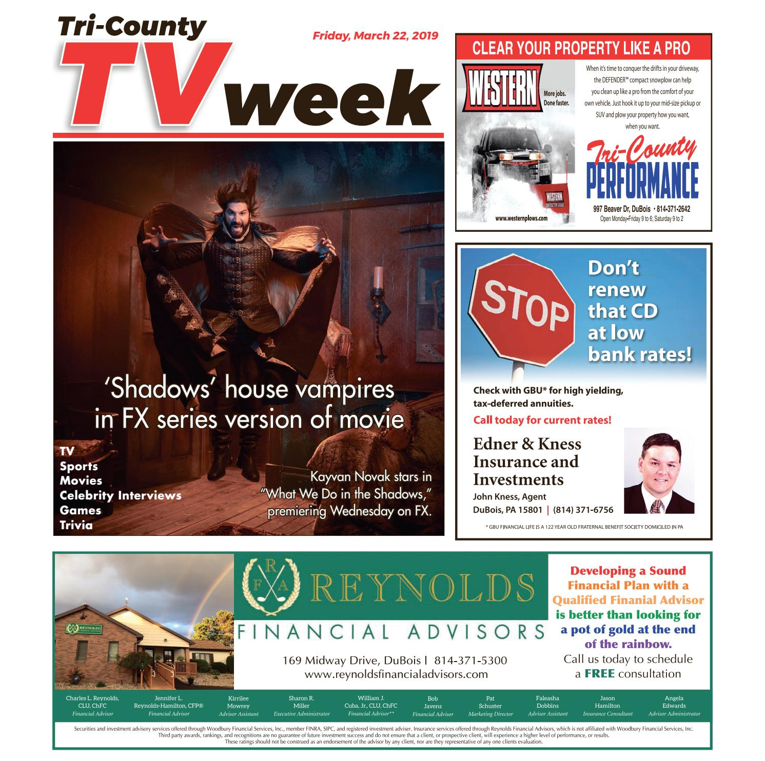 93709f1b0d TV Week, Friday, March 22, 2019 by Tri-County TV Week - issuu