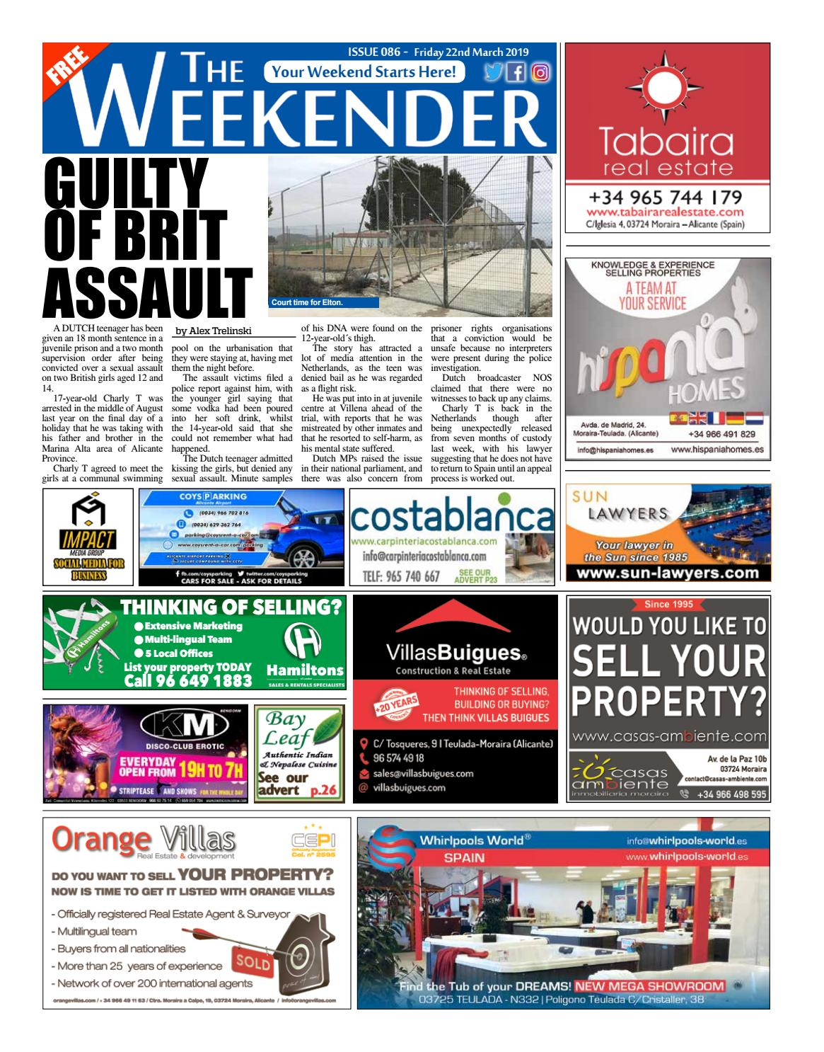 Weekender Alicante North Issue 086 By Impact Group Issuu
