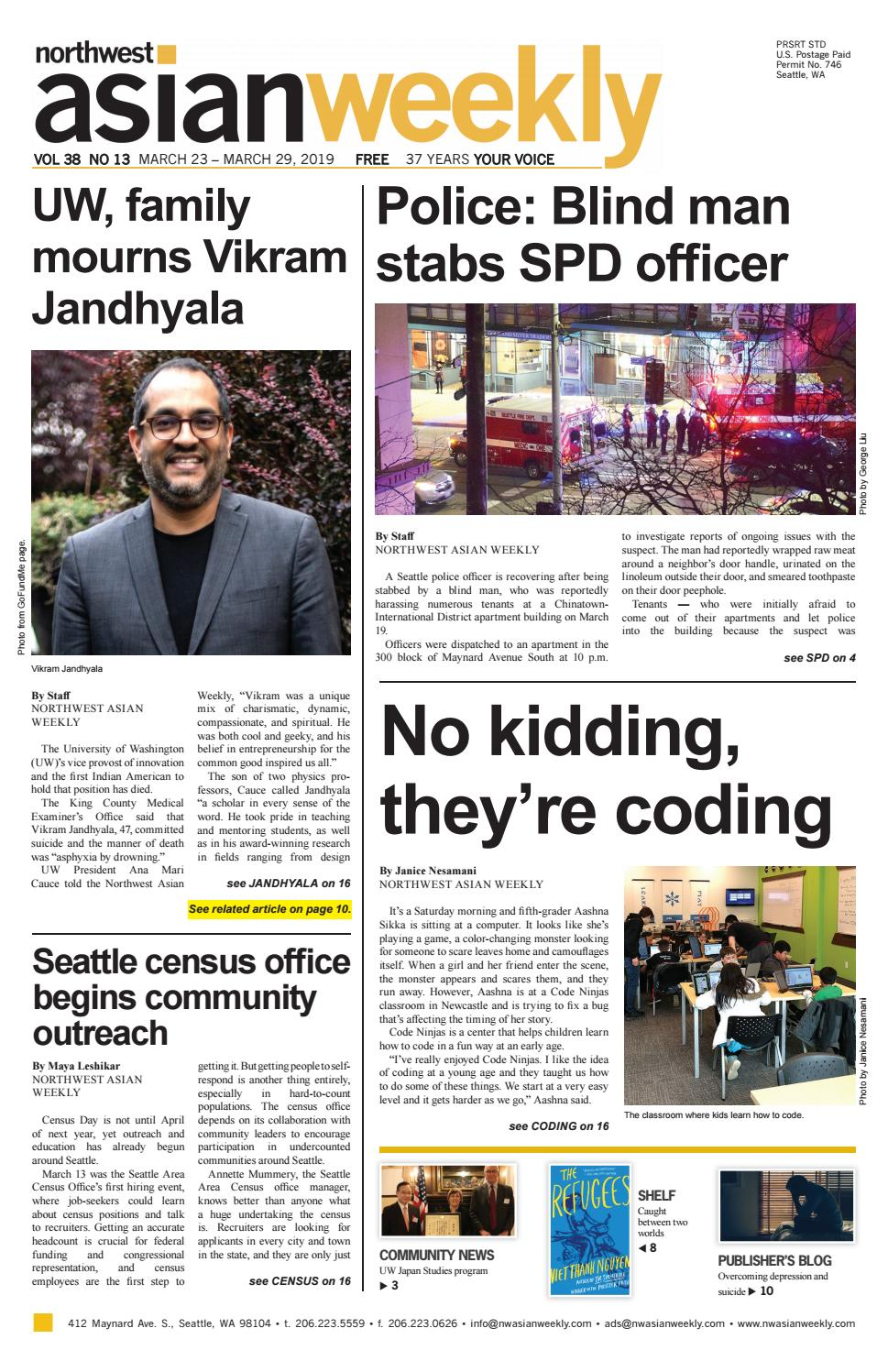 Free Talk In Maynard Monday May 4th >> Vol 38 No 13 March 23 March 29 2019 By Northwest Asian Weekly