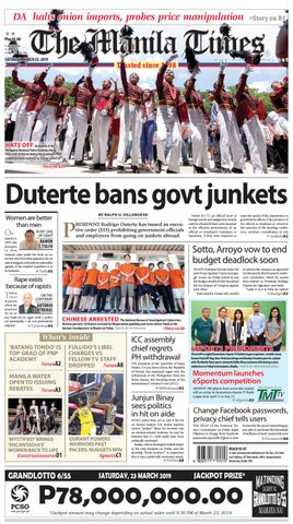 low cost 52db5 2be63 THE MANILA TIMES | MARCH 23, 2019 by The Manila Times - issuu