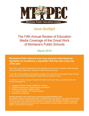 2019 - Fifth Annual Review of Education Media Coverage of