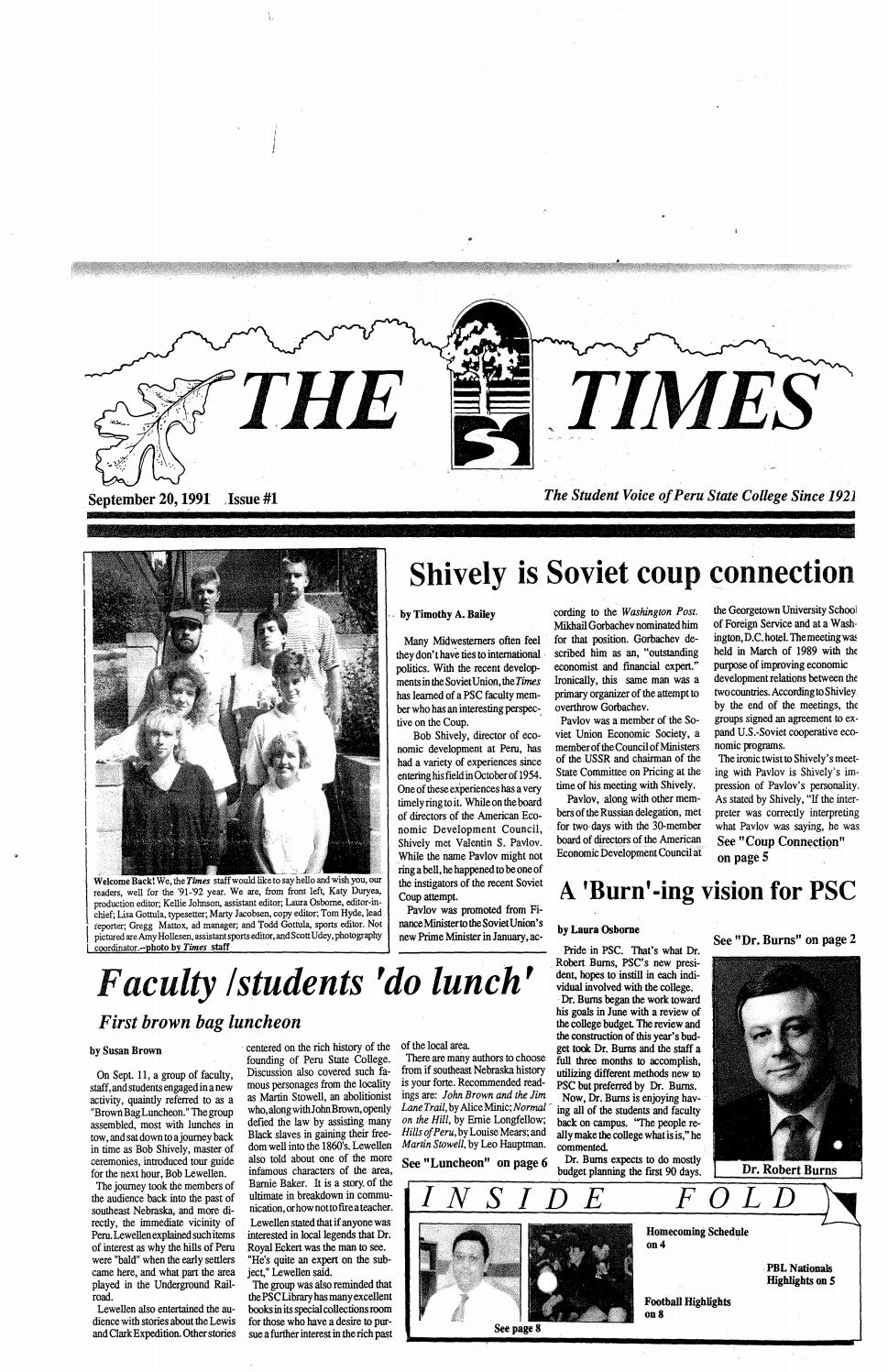 b9573cdf7f 1991-1992 The Times (Peru, NE) - issues 1-12 by Peru State College Library  - issuu
