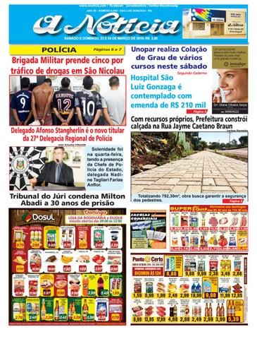 279af7750 www.anoticia.com   facebook  jornalanoticia   twitter  anoticiaslg ANO 85 -  NÚMERO 8.095 - SÃO LUIZ GONZAGA - RS
