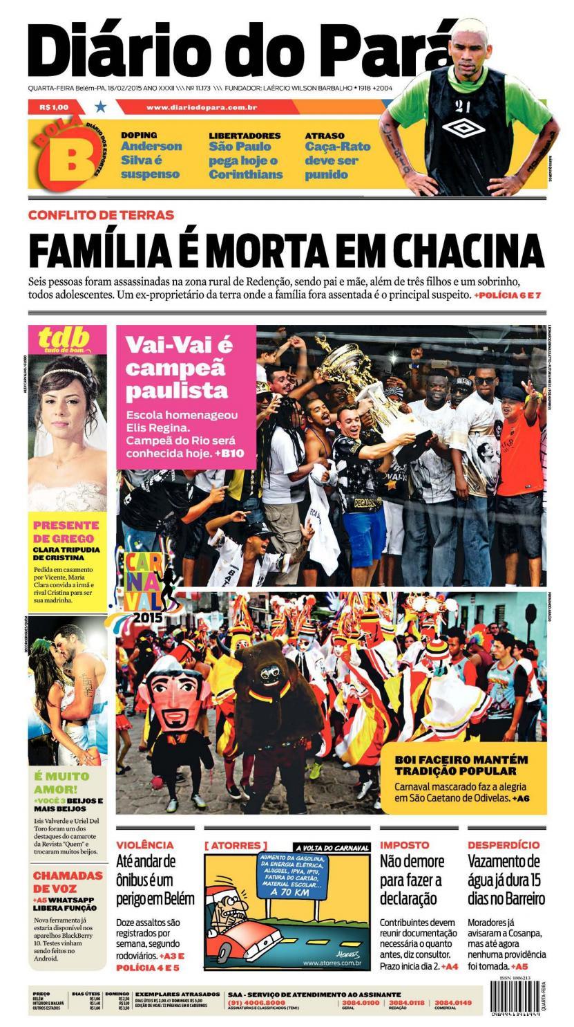 63b30e75e8 Jornal Diário do Pará Nº 11.173 by Portal Academia do Samba - issuu