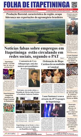 Folha de Itapetininga 23/03/2019 (Sabado)