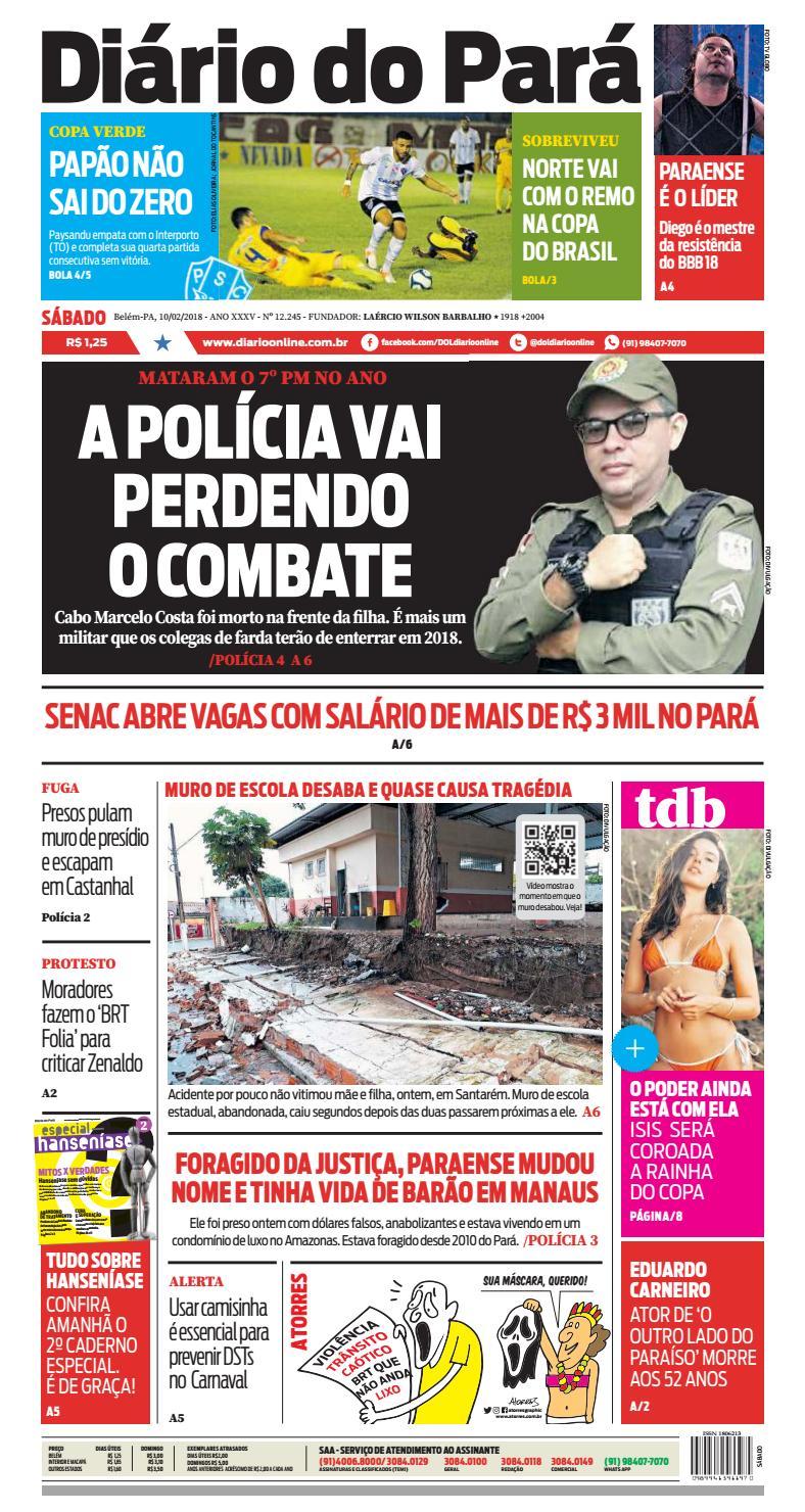c59af2b0e Jornal Diário do Pará Nº 12.245 by Portal Academia do Samba - issuu