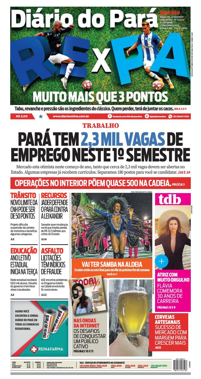 0062c7672 Jornal Diário do Pará Nº 12.615 by Portal Academia do Samba - issuu