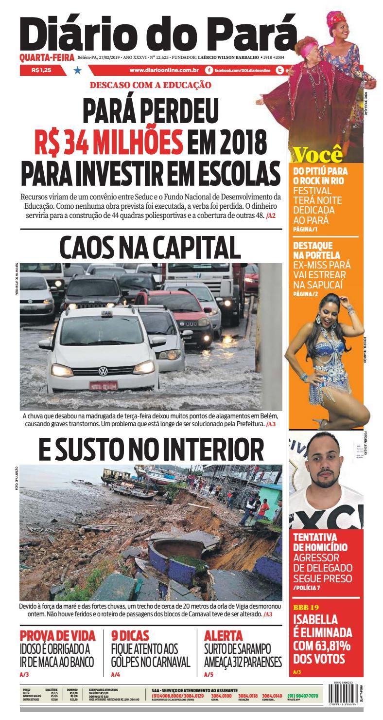 Jornal Diario Do Para Nº 12 625 By Portal Academia Do Samba Issuu