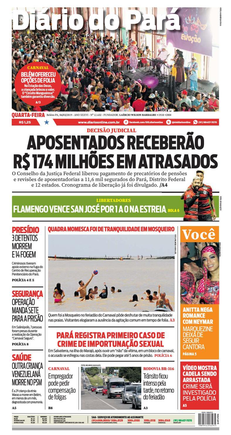 caf231731237 Jornal Diário do Pará Nº 12.632 by Portal Academia do Samba - issuu