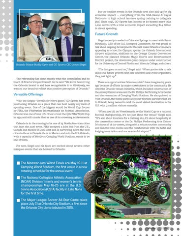 Page 25 of GO Sports Rallies the Region to Attract Marquee Events
