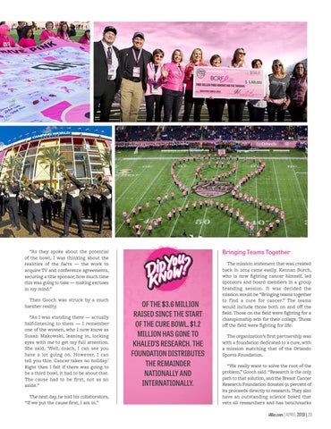 Page 31 of Tackling Cancer - Sports and Medicine Team Up for The Cure Bowl