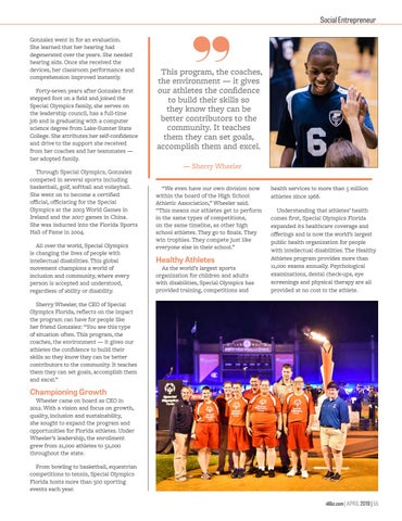 Page 57 of Special Olympics Florida - Setting Goals, Breaking Records, Changing Lives