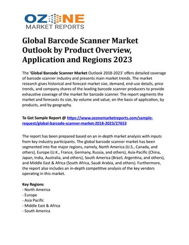 Global Barcode Scanner Market Outlook by Product Overview