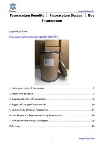 Fasoracetam Benefits丨Fasoracetam Dosage丨Buy Fasoracetam by Weight