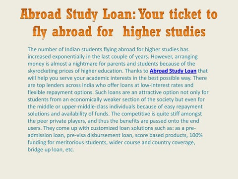 c97389727a46f Abroad Study Loan  Your ticket to fly abroad for higher studies