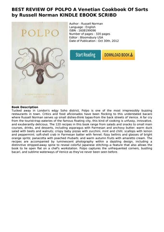 Best Review Of Polpo A Venetian Cookbook Of Sorts By Russell Norman Kindle Ebook Scribd By Teguh 197974 Issuu