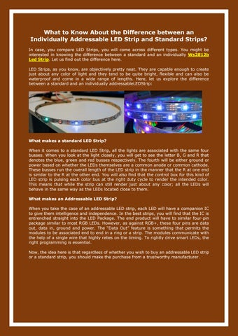 WS2812b LED Strip | Addressable WS2812b LED Strip by Henry B