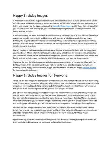 Happy Birthday Images by Jack Connor - issuu