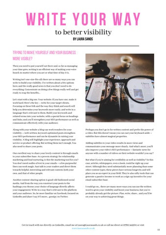 Page 11 of Write Your Way to Better Visibility