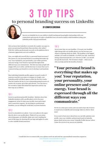 Page 12 of 3 Top Tips to Personal Branding Success on LinkedIn