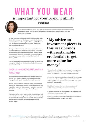 Page 13 of What You Wear is Important for Your Brand Visibility