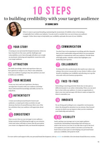 Page 15 of 10 Steps to Building Credibility with Your Target Audience