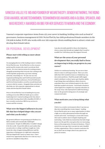 Page 7 of Introducing Vanessa Vallely, OBE