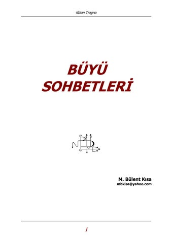 Buyu Sohbetleri Bulent Kisa 283 Sayfa By Ismail Kara Issuu