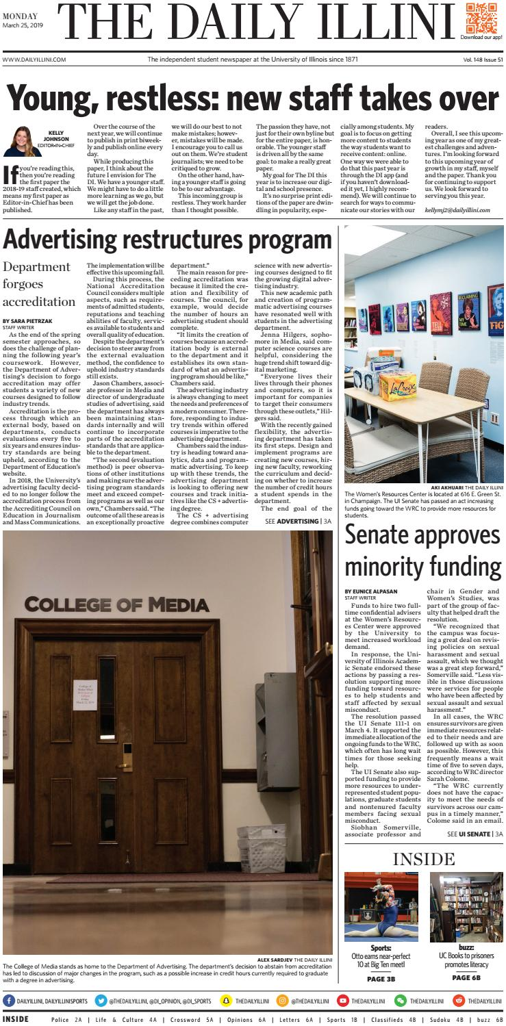 The Daily Illini: Volume 148 Issue 50 by The Daily Illini