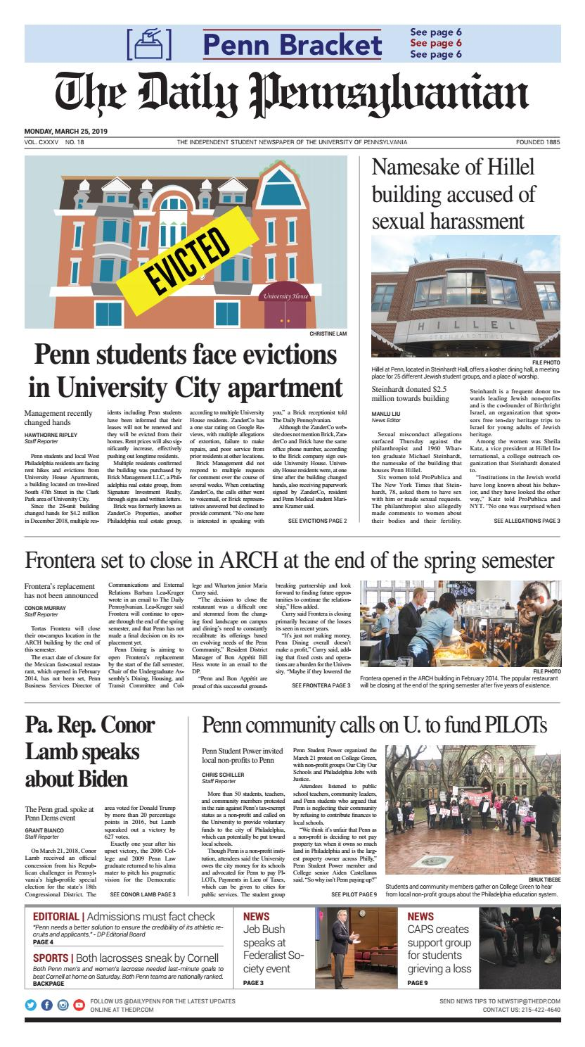 March 25, 2019 by The Daily Pennsylvanian - issuu