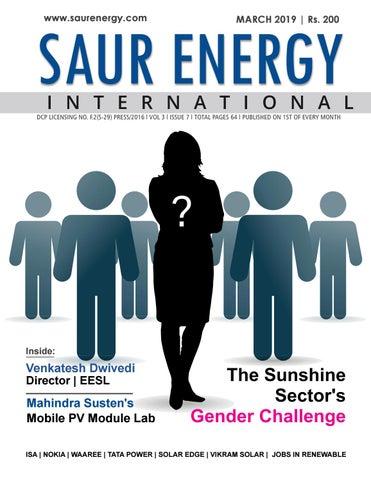 Saur Energy Magazine March 2019 by Saur Energy International - issuu