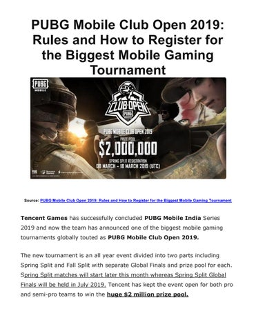 PUBG Mobile Club Open 2019: Rules and How to Register for the Biggest  Mobile Gaming Tournament