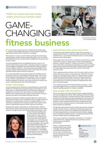 Page 11 of Game-Changing Fitness Business fit20's no-sweat exercise studio meets enormous market need