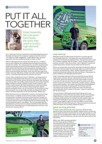 Page 9 of Putting It All Together Kitset Assembly Services provides the tools you need to build a high-demand business