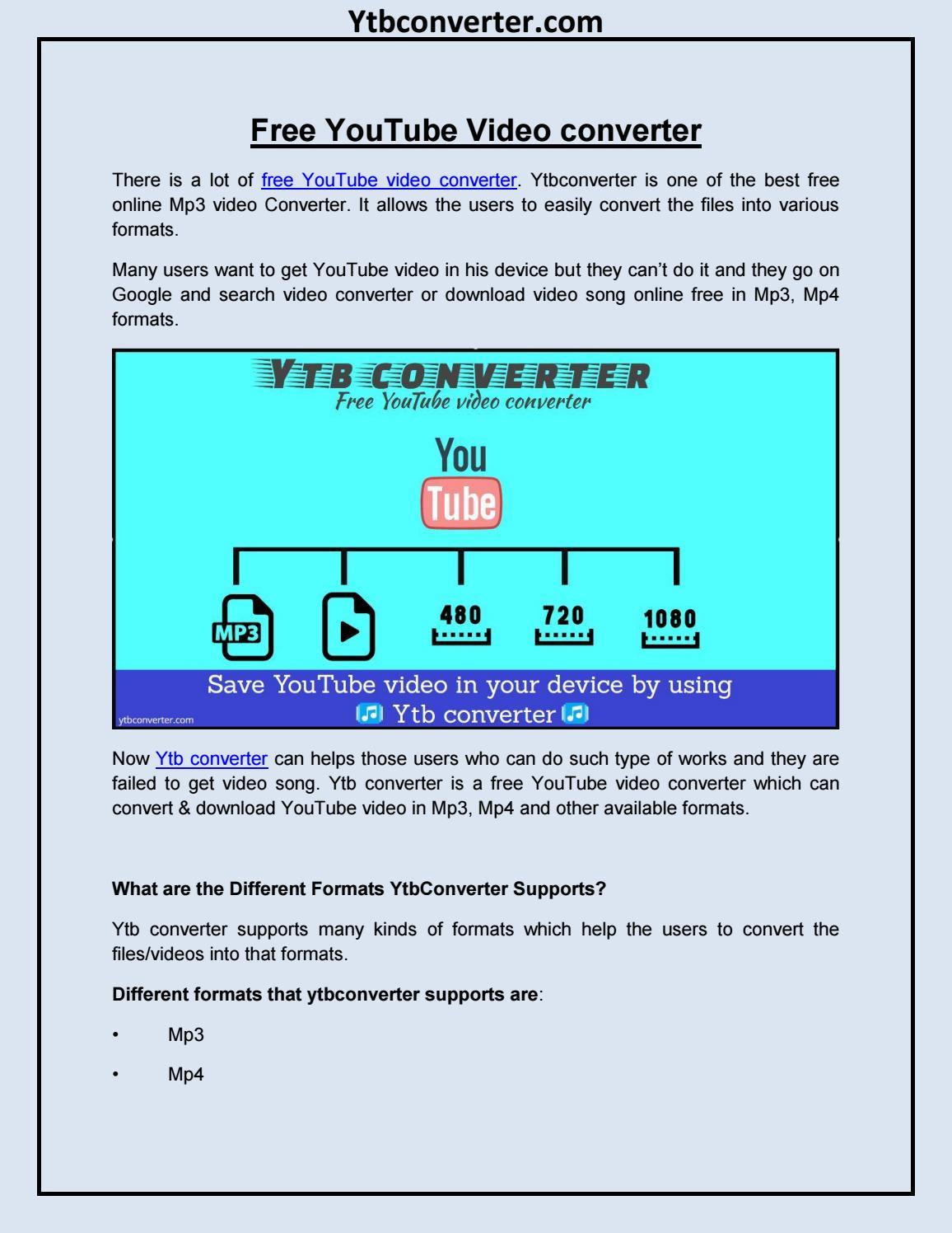 youtube video converter mp3 free