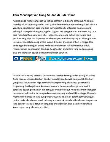 Cara Mendapatkan Uang Mudah Di Judi Online Di Ole777 By Ole777 Indonesia Issuu
