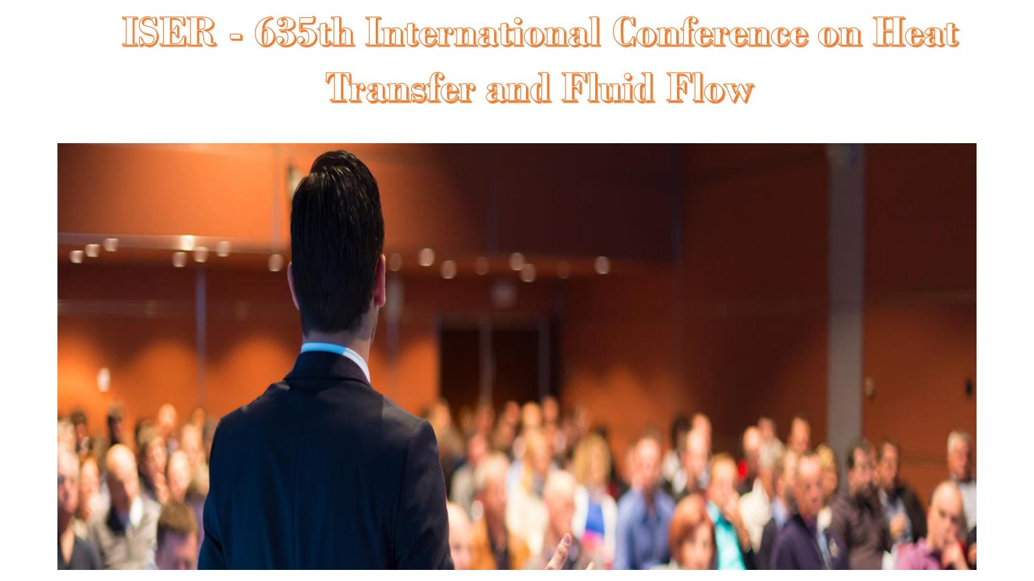 ISER - 635th International Conference on Heat Transfer and Fluid