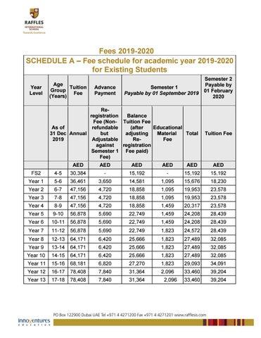 Fees for Academic Year 2019 -2020 by RafflesIntlSch - issuu