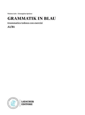 Grammatik In Blau Demo Sfogliabile By Loescher Editore Issuu