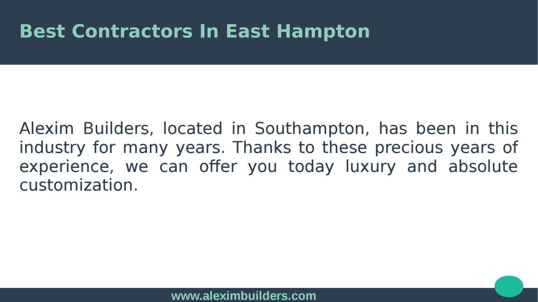 Best Contractors In East Hampton