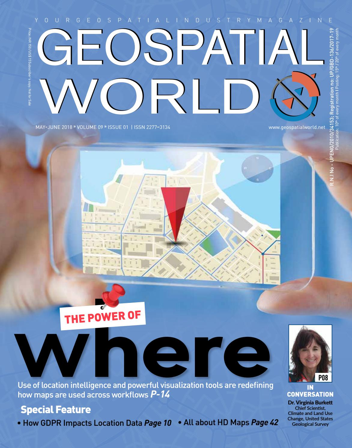 Geospatial World Magazine: May - June 2018 by Geospatial