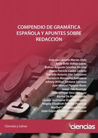 f4a2d74185 Compendio de gramática española y apuntes sobre redacción by ...