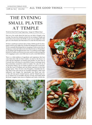 Page 6 of Evening Small Plates at Temple, Bude