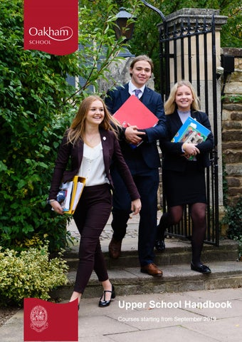 Upper School Handbook 2019 by Oakham School - issuu