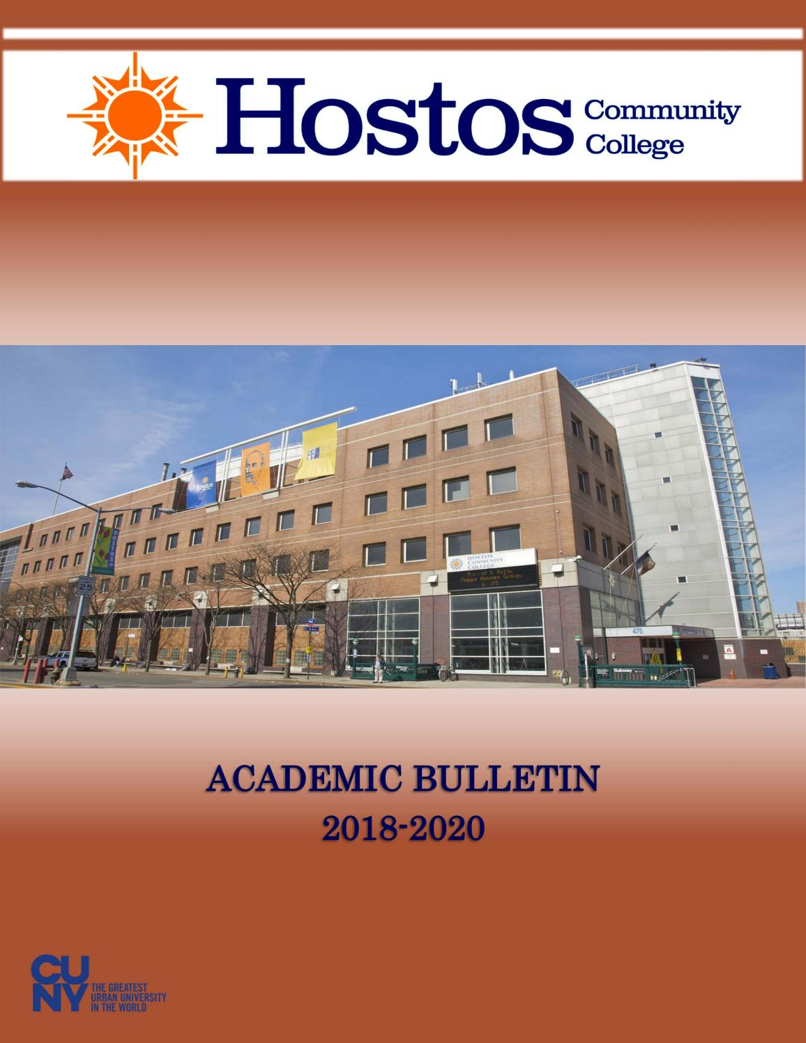 2018 - 2020 Hostos Catalog by Hostos Community College - issuu