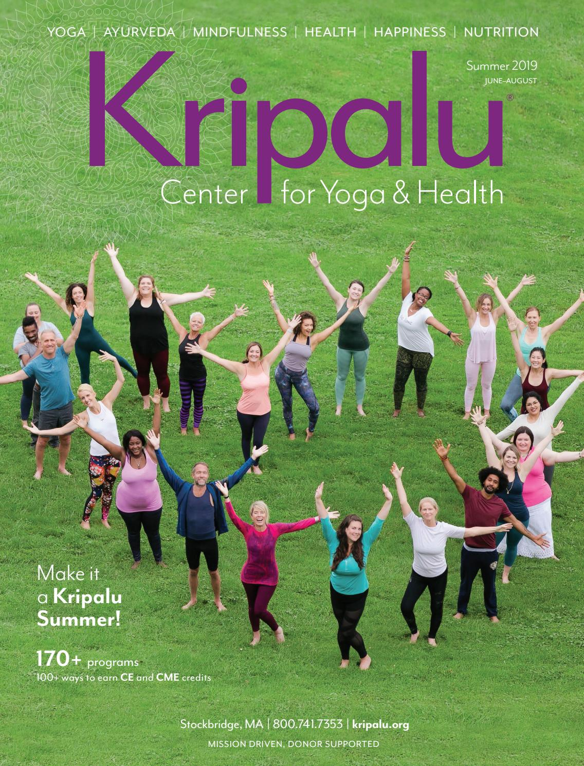 Kripalu Summer 2019 Catalog by Kripalu Center for Yoga