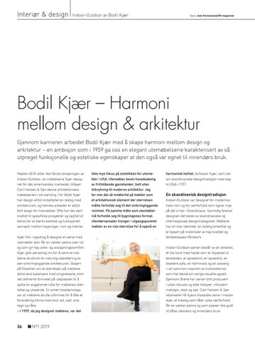Page 36 of Bodil Kjær – Harmoni  mellom design & arkitektur